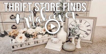 THRIFT STORE FINDS + MAKEOVER #thriftstorefinds