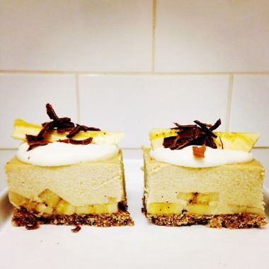 Raw Banana Spilt Ice Cream Cake