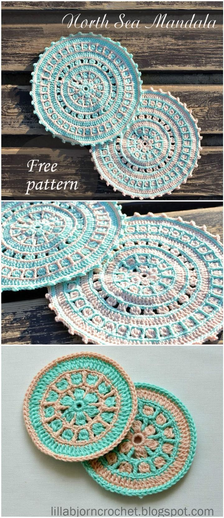 60+ Free Crochet Mandala Patterns | Pinterest | Waschlappen, Häkeln ...