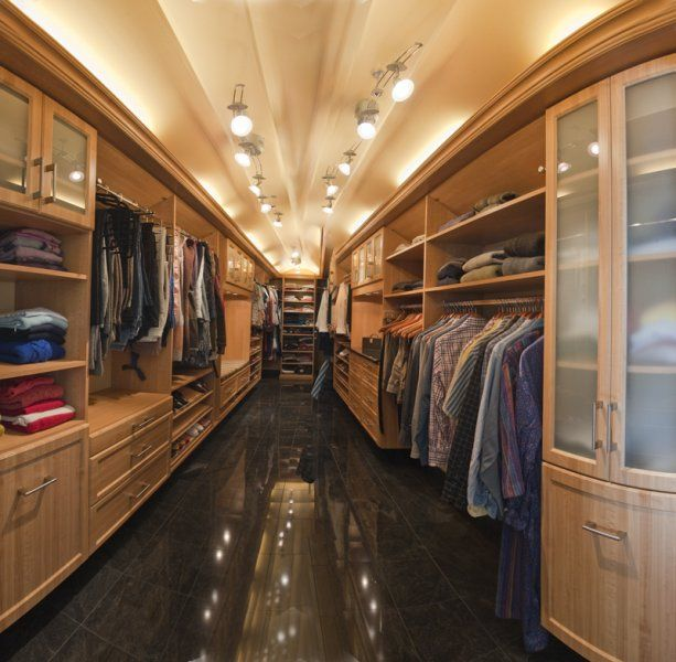 Amazing Walk In Closet Hallway Lit Like A Vegas Casino To Showcase Your Best Outfits