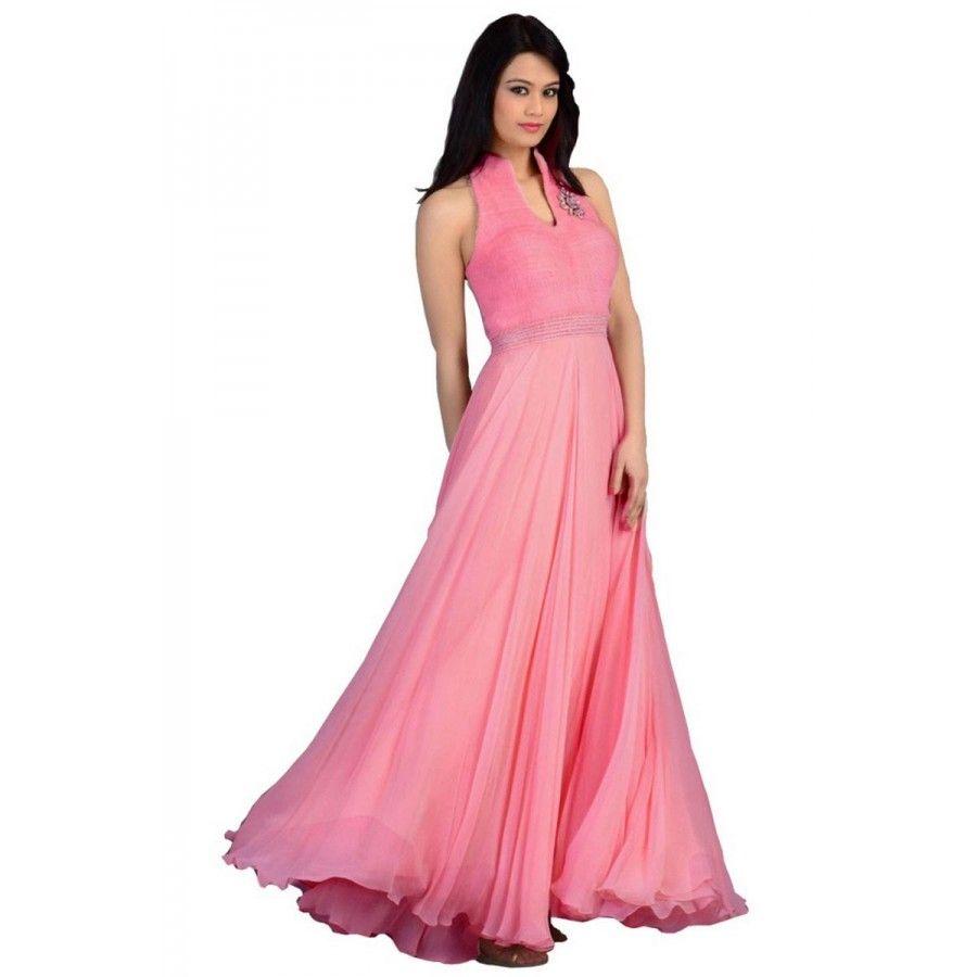 Designer pink anarkali gown salwar suits collection pinterest