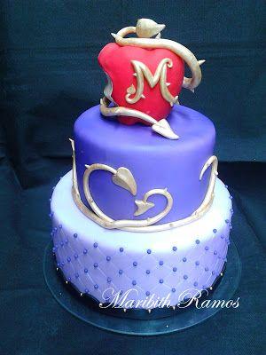 Malfica Descendientes cake Frozen party Pinterest