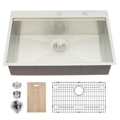 Boyel Living 33 Inch Undermount Sink Deep Single Bowl Sink 22 Gauge Stainless Steel Kitchen Sink Sl Gts33229a1 In 2020 Single Bowl Sink Drop In Kitchen Sink Undermount Sink