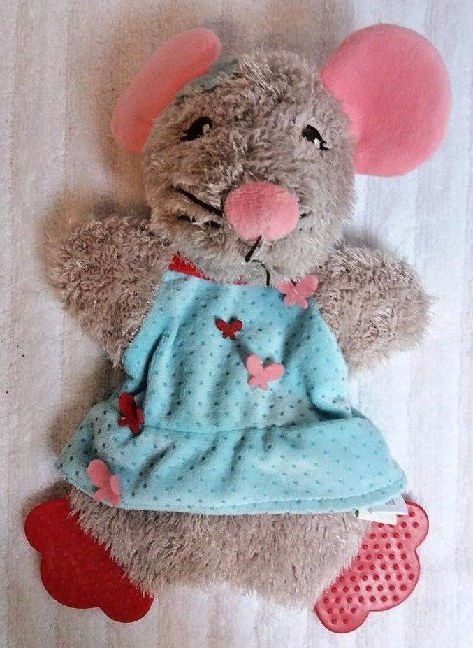 Martha Stewart Mouse Dog Pet Toy Squeaky Crinkle Chew Toy A8