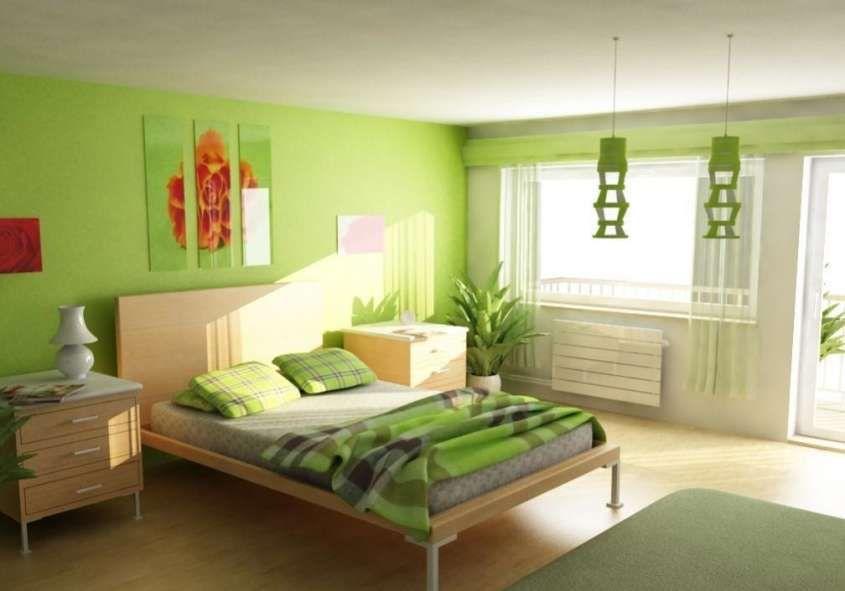 Colore Parete Camera Da Letto Verde : Abbinare due colori in una stanza parete salotto