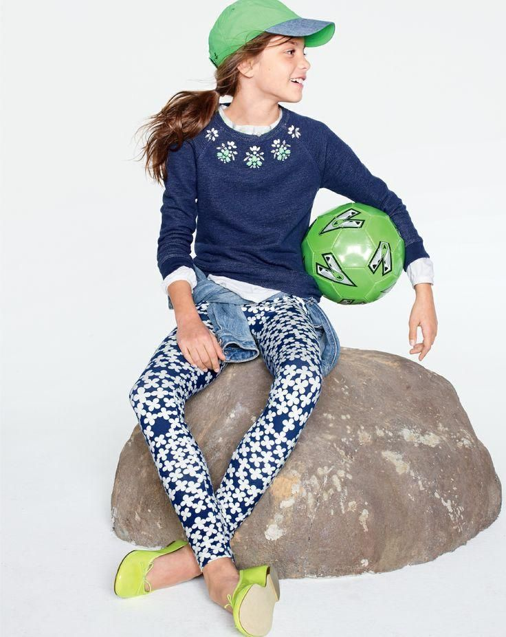 J.Crew Girls' Everyday leggings. To preorder call 800 261 7422 or email erica@jcrew.com.