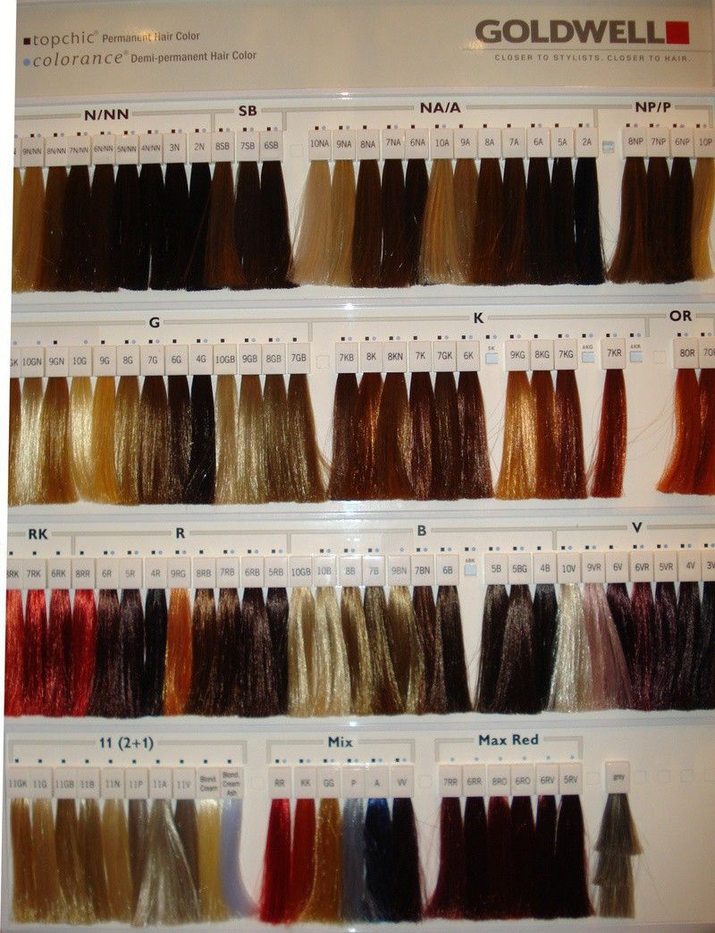 Goldwell Color Chart Hair Color Swatches Elumen Hair Color