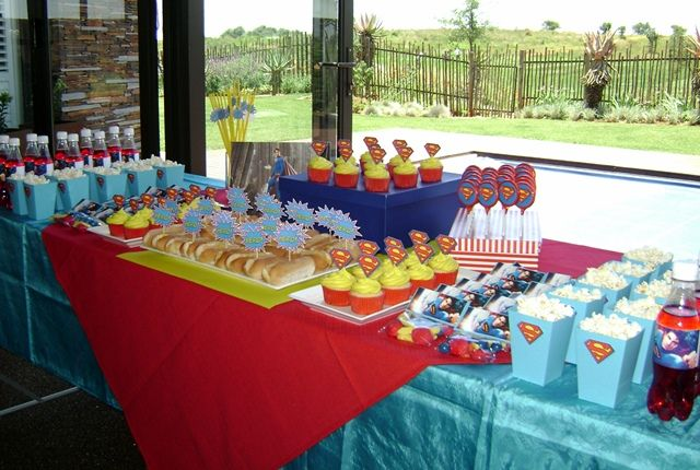 Superman Party Food Table