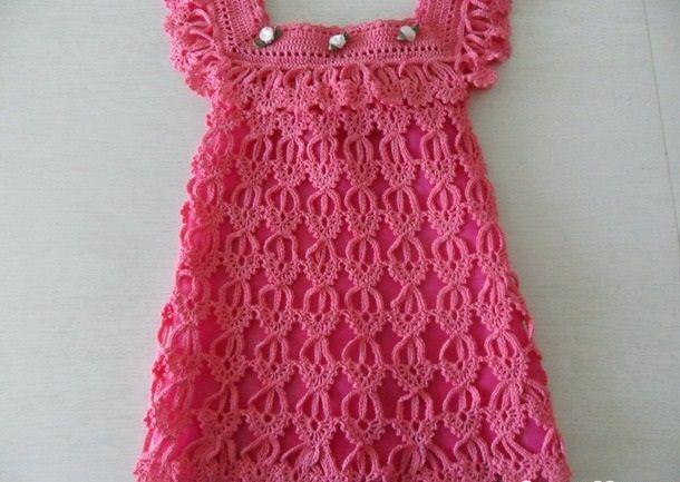 восхитительное платье крючком детские платья вязаные крючком