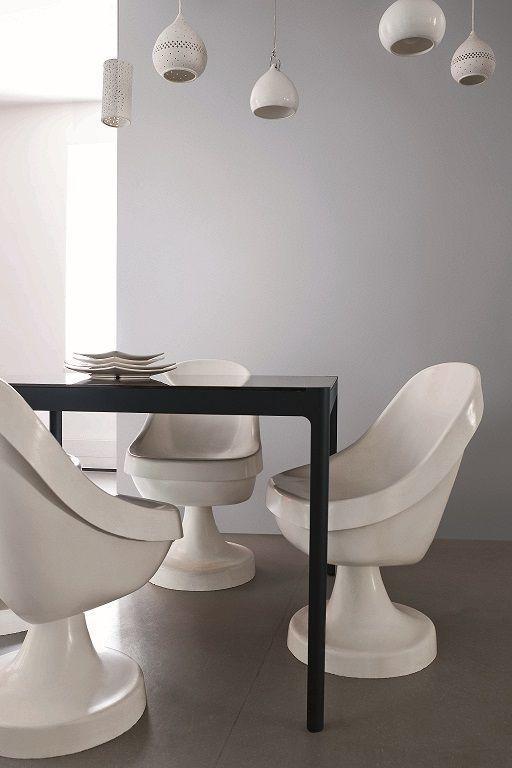 De la peinture gris perle pour une salle à manger lumineuse | Idée ...