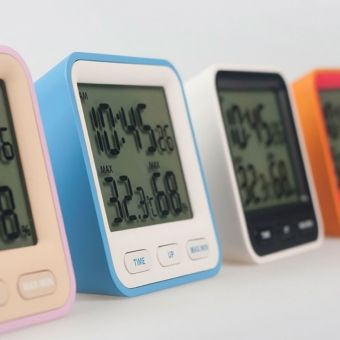 Thermo Thermo Amp Hygrometer Clock By Kazushige Miyake For Mondo