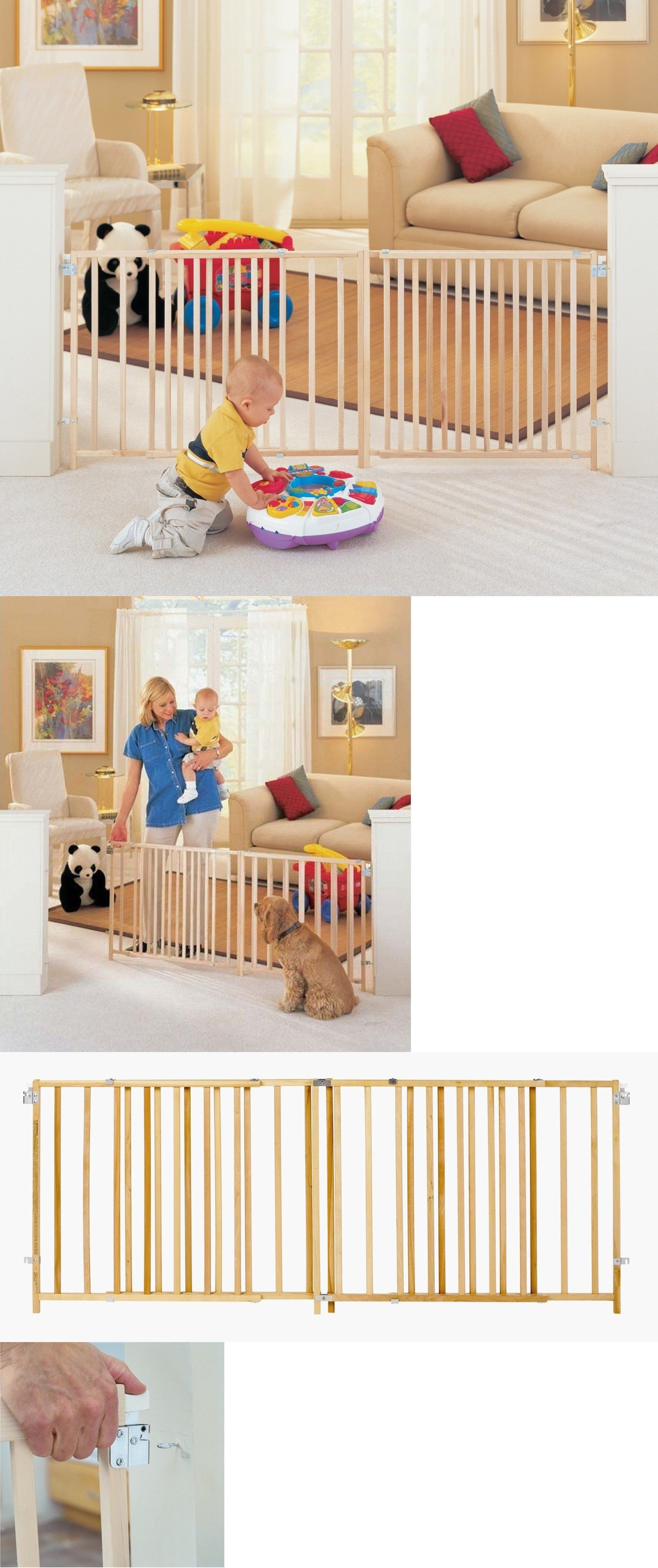 Extra Big Baby Gate Child Dog Pet 5 6 7 8 Foot Wide Long Ft Safety