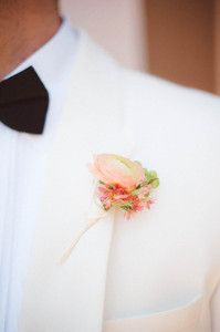 Boutonniere on a classic suit