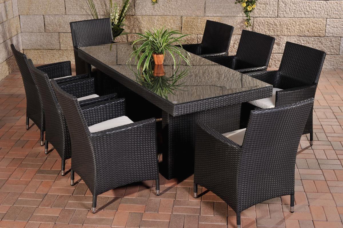 Gartenmobel Set 8 Personen Polyrattan In 2021 Outdoor Furniture Outdoor Furniture Sets Rattan Dining Table