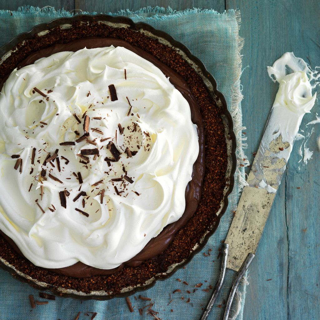35 Chocolate Pies And Tarts To Obsess Over Chocolate Cream Pie Recipe Cream Pie Recipes Making Whipped Cream
