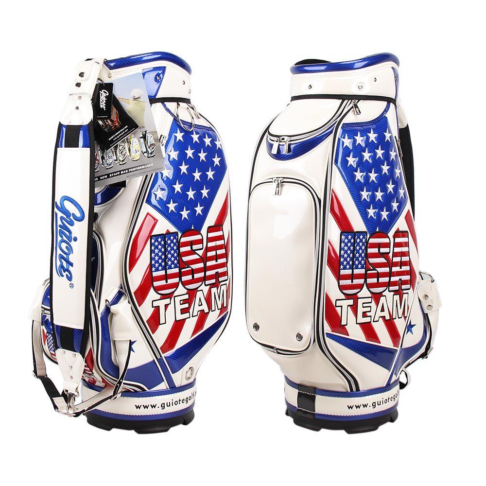 Guiotegolf Golf Bag Bags American Flag Fl