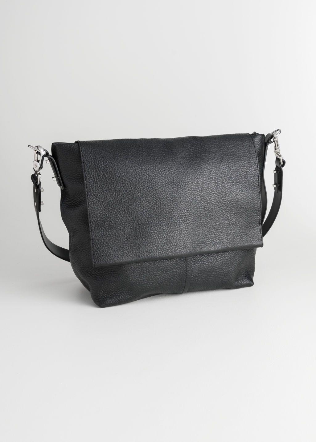 Grain Leather Hobo Bag Burgundy Shoulderbags Other Stories Leather Hobo Leather Hobo Bag Hobo Bag