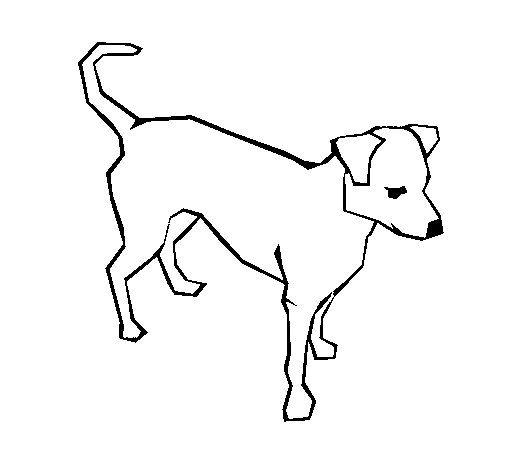 dibujos para colorear de perros   Dibujo de Perro 6a para Colorear ...