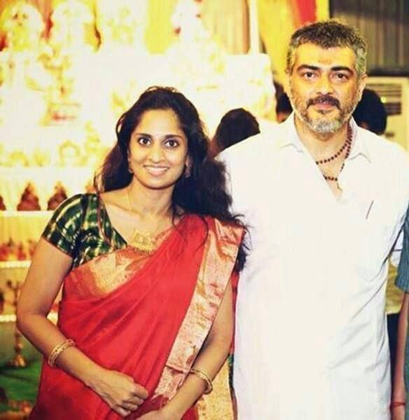 Shalini Kumar With Thala Ajith Kollywood Pinterest