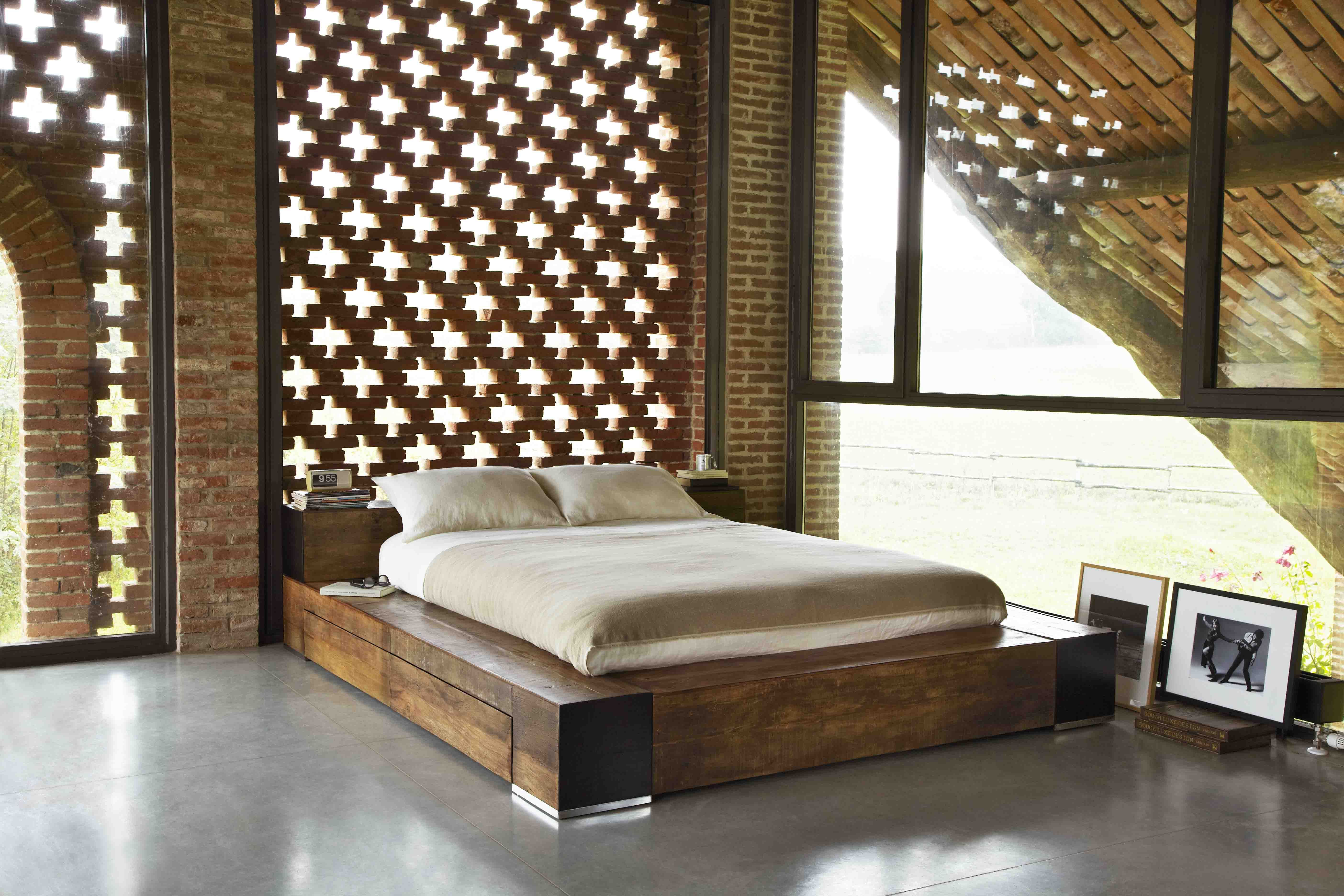 Edge Bed Italy photo shoot Luxury wooden bed, Bed