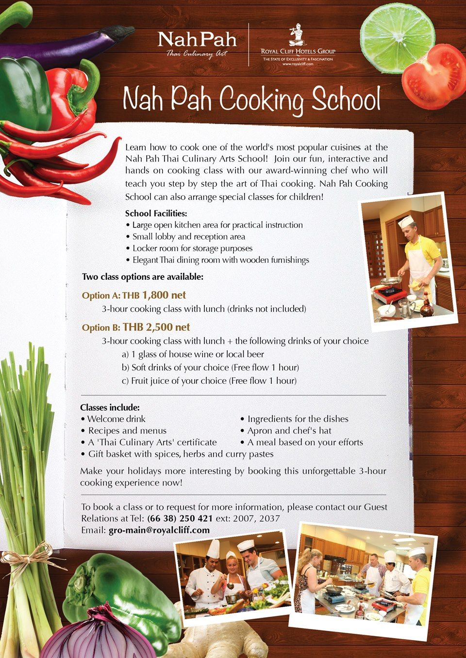 Nah pah thai cooking class pattaya graphic design pinterest learn the skills of thai cooking one of the worlds most popular cuisines at the nah pah thai culinary arts school our award winning chef will teach you 1betcityfo Images
