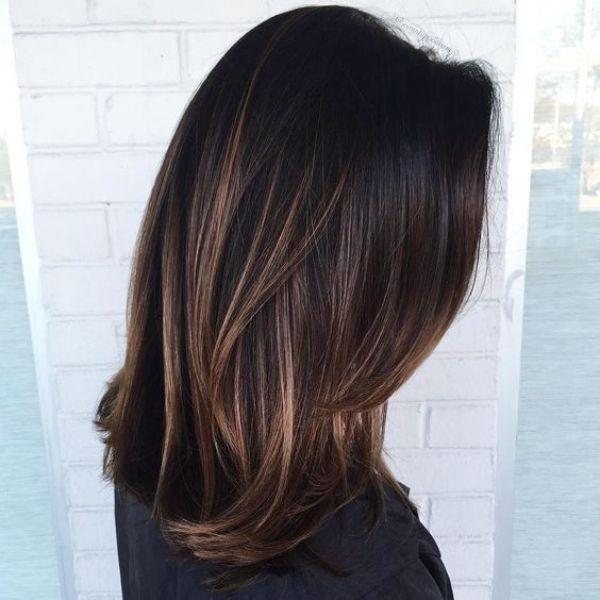 15 Authentische Haarfarbe Ideen Fur Schwarzes Haar Haarfarbe Ideen Fur Schwarze Haare Schokoladenbraune Haarfarbe Haare Balayage Haarfarben