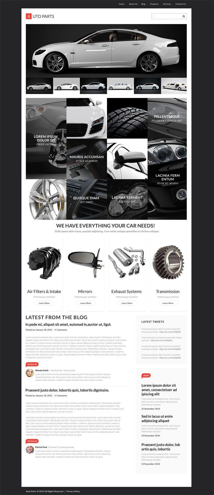 Limousine WordPress Theme | Car trader, Wordpress and Social icons