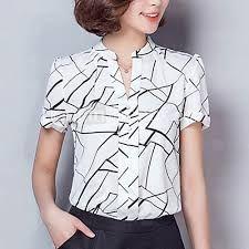 a0eab5d976f80 Resultado de imagem para camisas femininas manga curta de seda ...