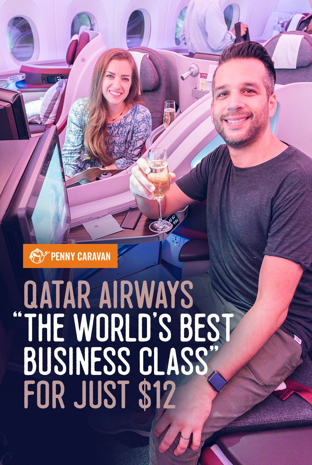 Review Qatar Airways A350 Business Class Boston to Doha