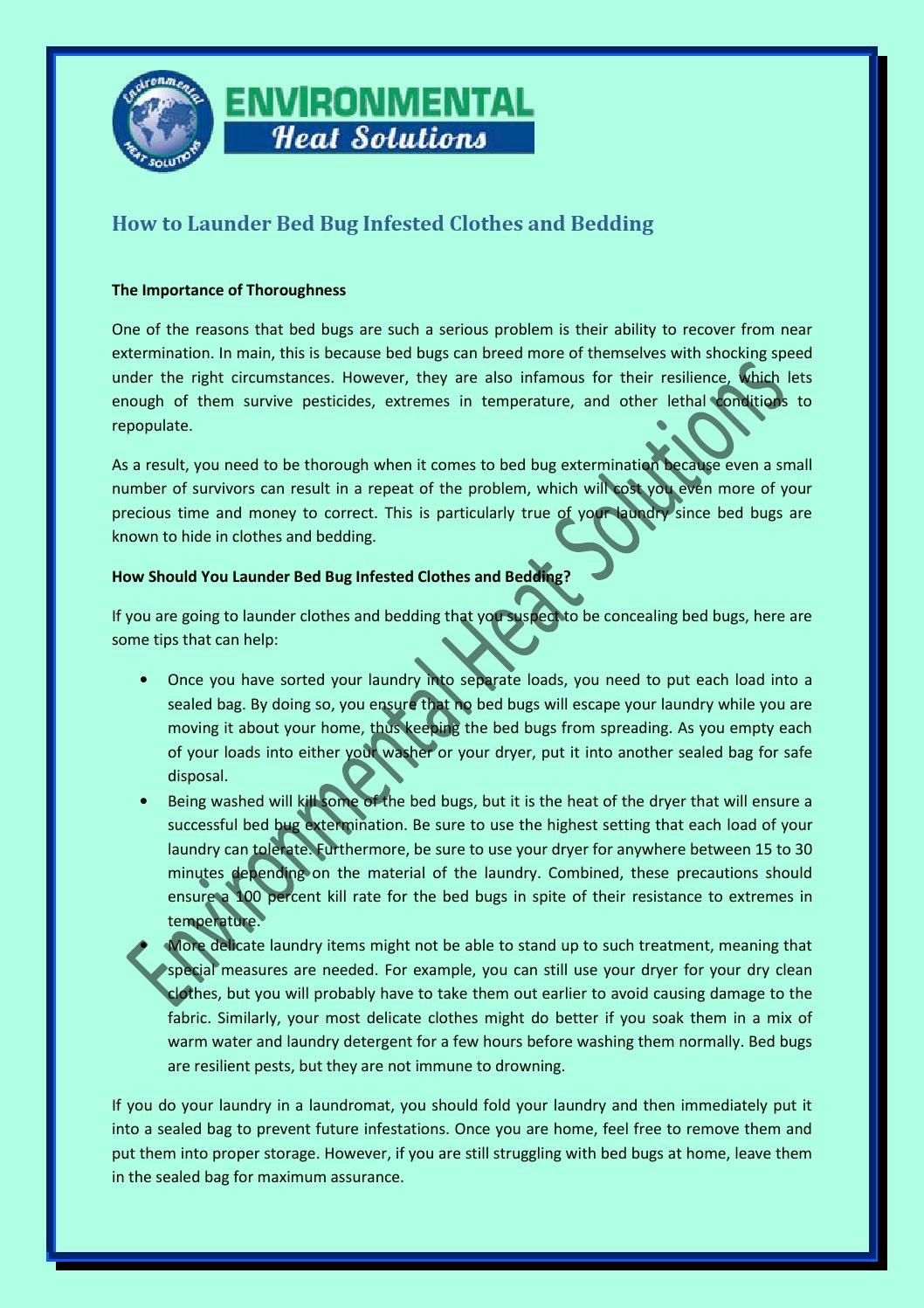 How To Launder Bed Bug Infested Clothes And Bedding With Images