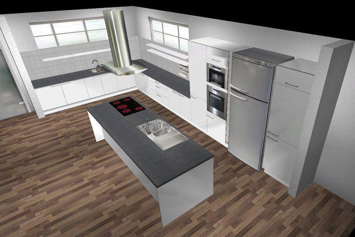 Küche Bild Kochinsel Kücheninsel Rückseite Stauraum Bild Ammann Ag | Küche  | Pinterest | Kochinsel, Kücheninsel Und Stauraum