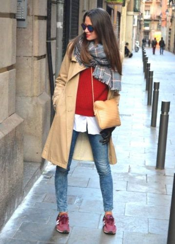 new balance beige outfit