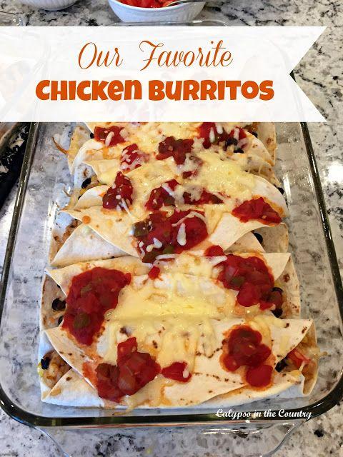 Favorite Chicken Burritos - Great for Cinco de Mayo!