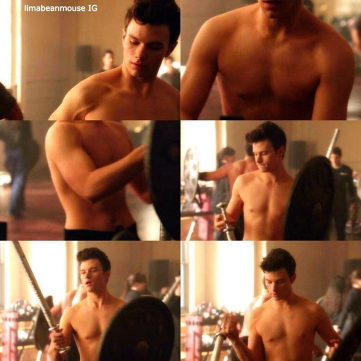 shirtless Chris colfer