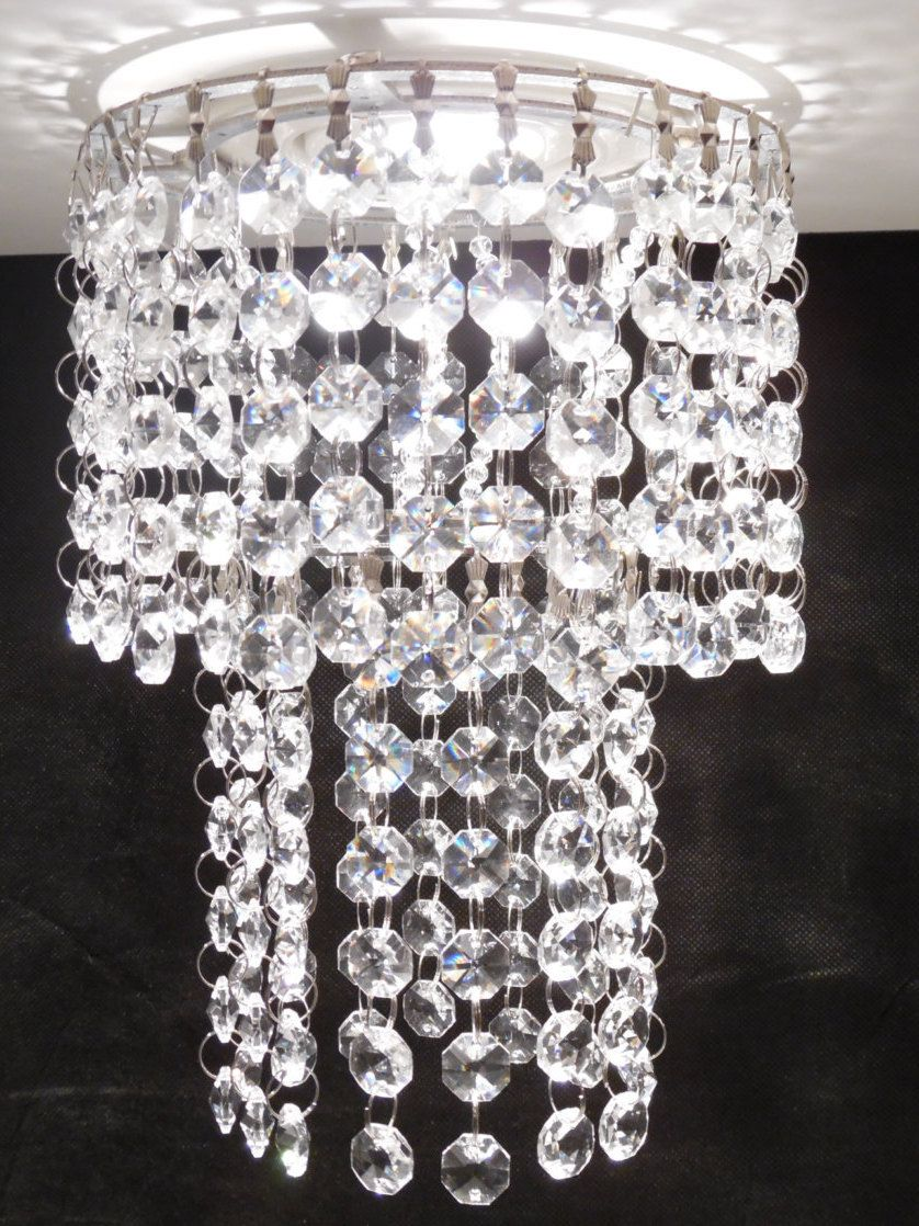 Luxe Crystal VIENNA Recessed Light Pendant Medallion