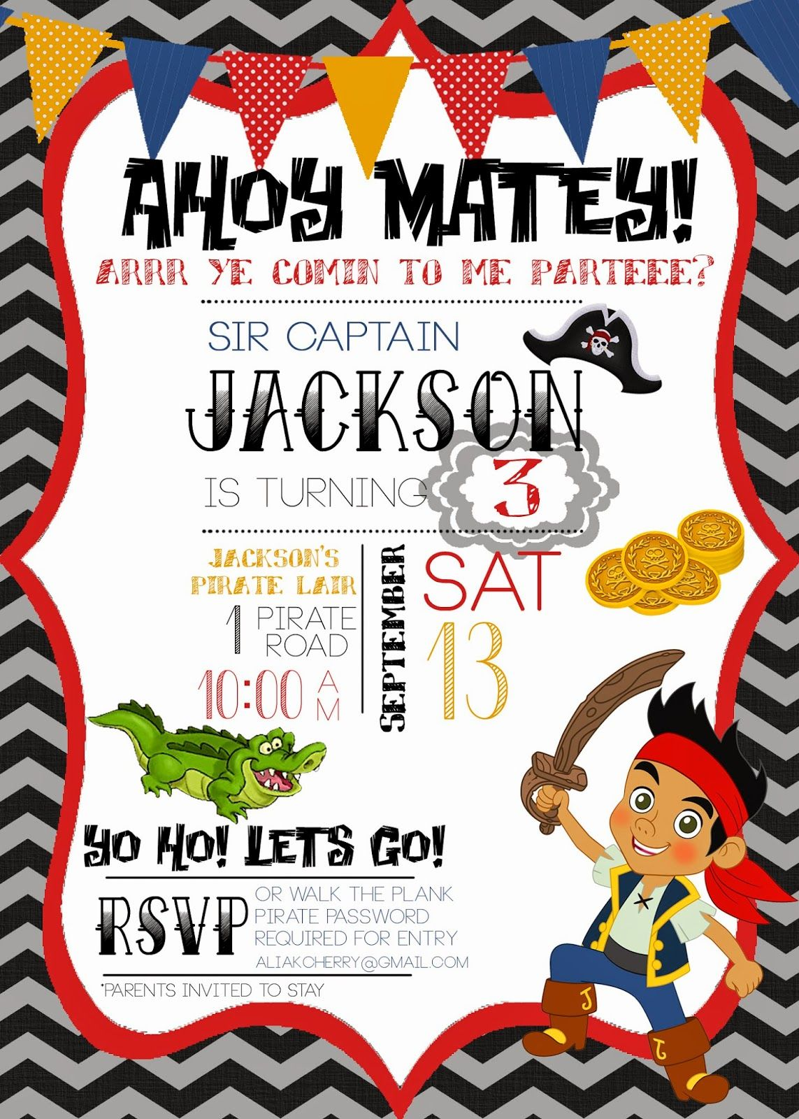 How to Throw a Jake & the Neverland Pirates Party | Pirate birthday ...