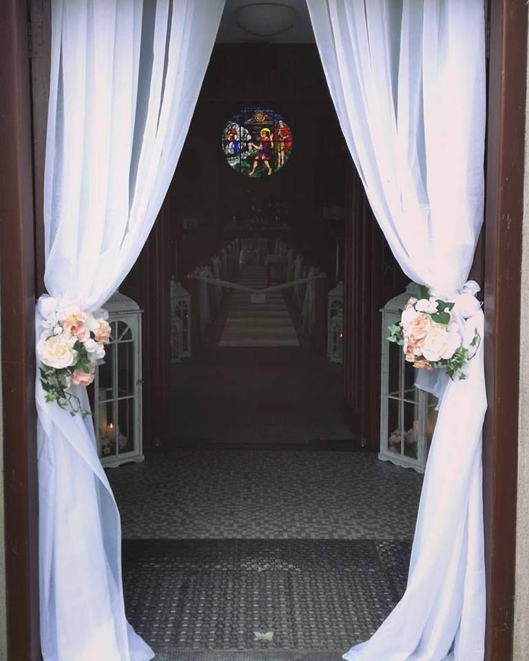 Entrance Drape Church Door Decor With