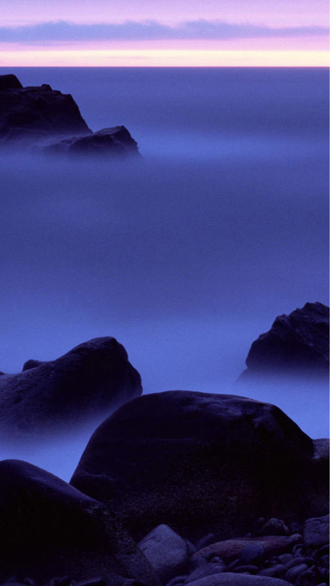 Nature Night Sea View Background IPhone 6 Plus Wallpaper