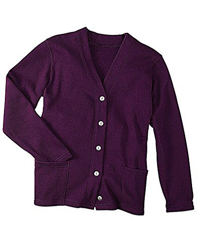 National Fleece Cardigan Purple Small ** Check this awesome ...