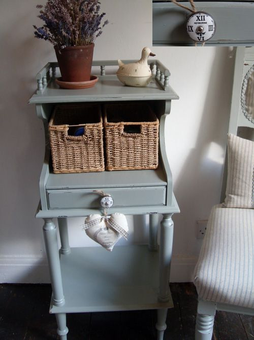 Best Vintage French Country Farrow And Ball Pigeon Painted 640 x 480