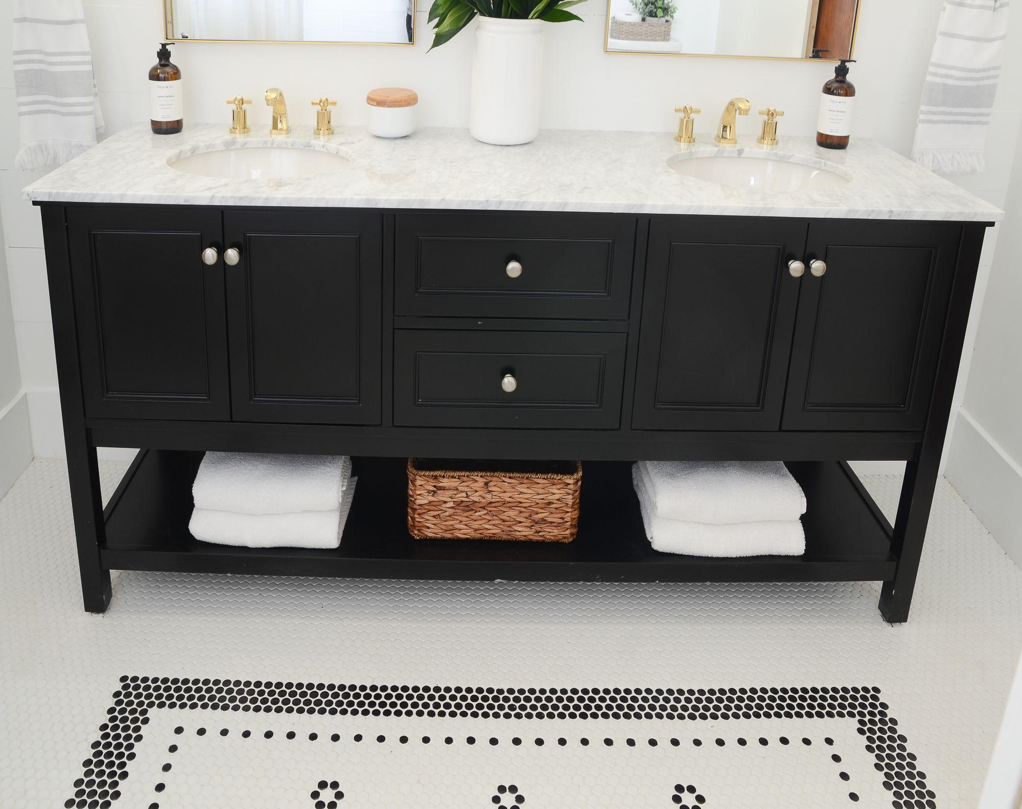 Our Flip House Bathroom Makeover REVEAL! {Wayfair One Room Reno