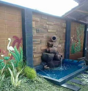 jasa tukang kolam ikan koi minimalis di malang | taman