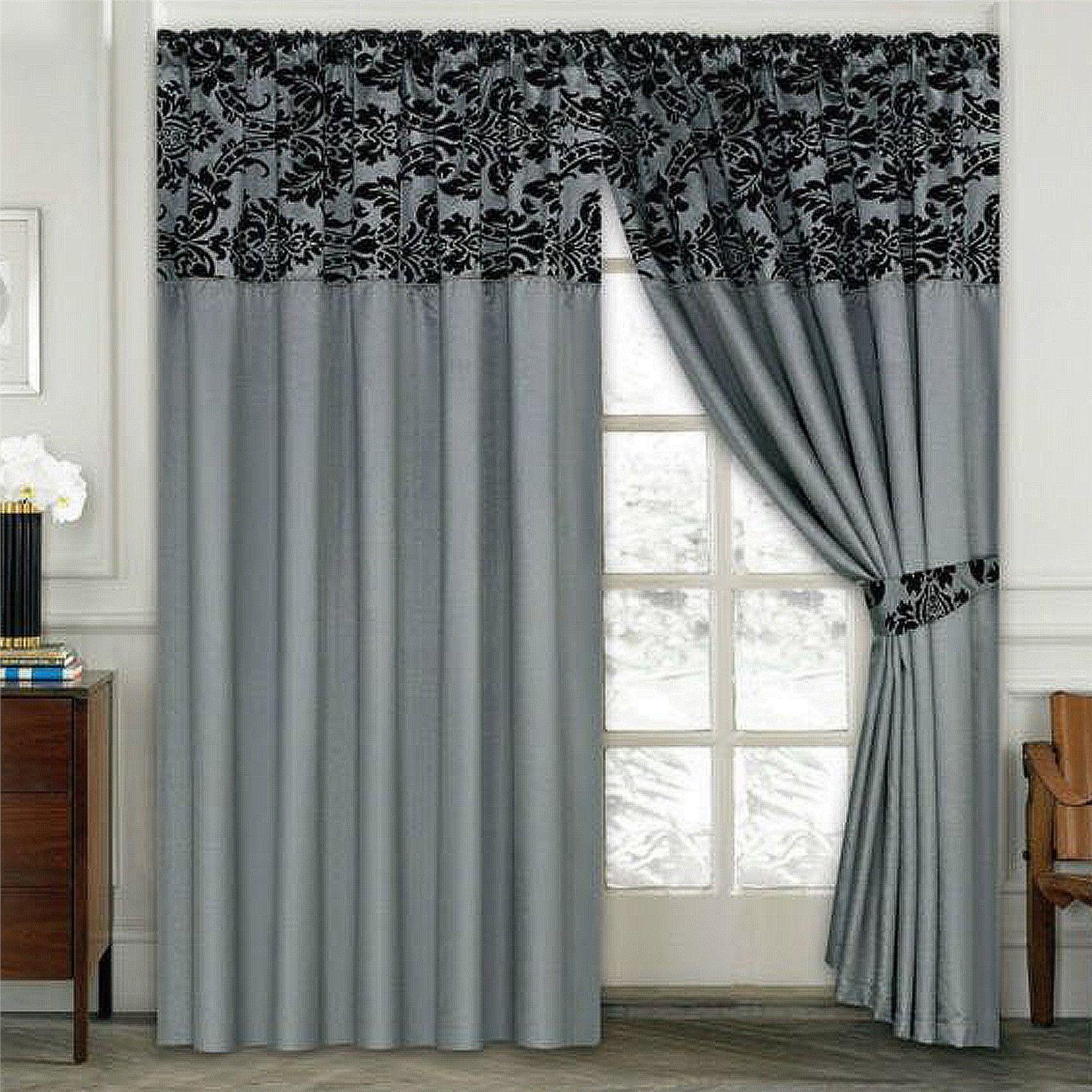 Luxury window coverings  luxury damask curtains pair of half flock pencil pleat window
