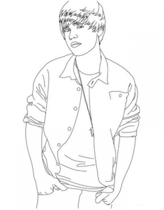 Printable cool style Justin Bieber Coloring Pages | coloring pages ...
