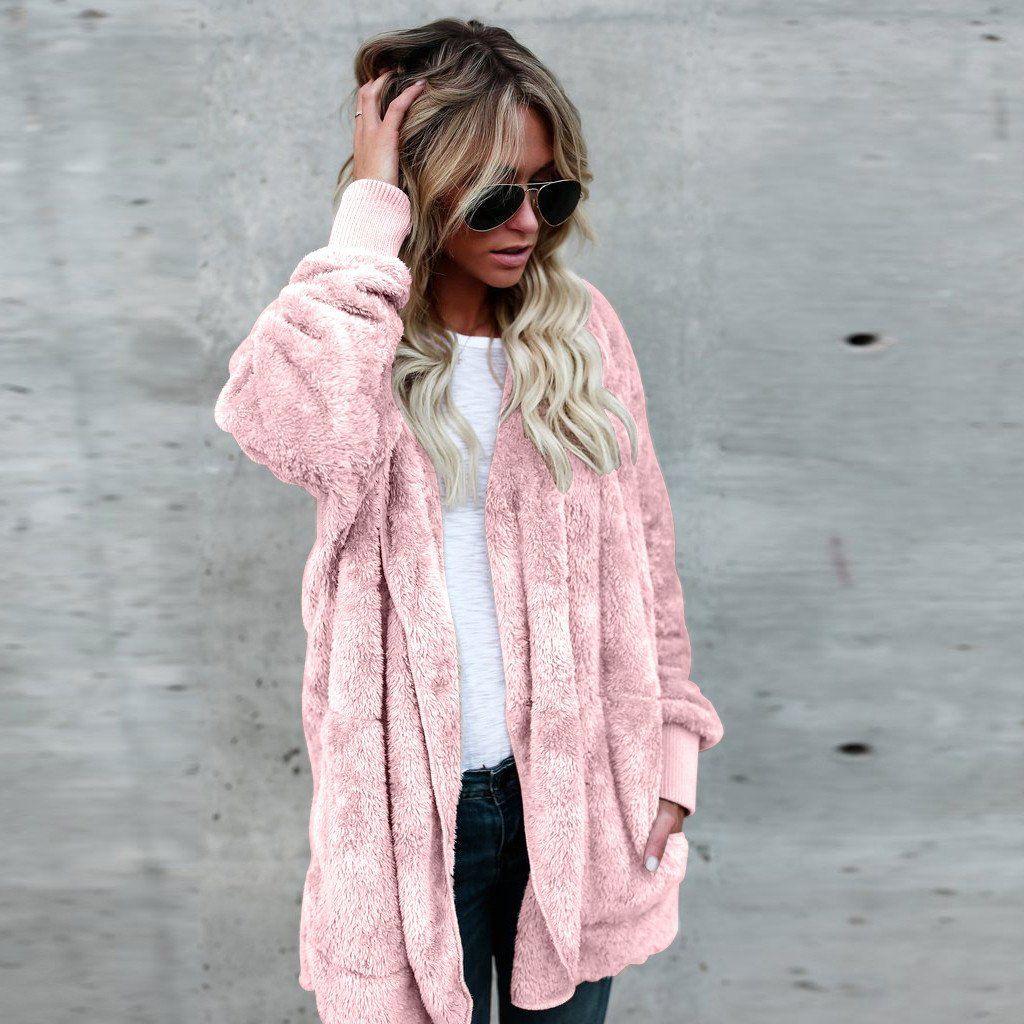 Women's Hooded Long Cardigan Coat Products Pinterest