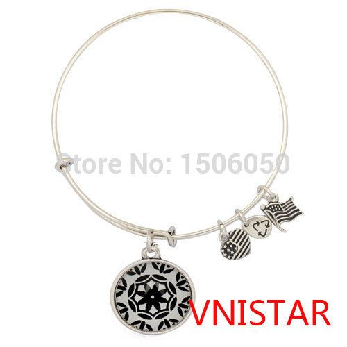 Free shipping! 10pcs of Vnistar Alex and ani bangle,with black kaleidoscope image glass cover charmVAB129, hot  selling bangles on Aliexpress.com | Alibaba GroupUS $21.00 / lot 10 pieces / lot , US $2.10 / piece