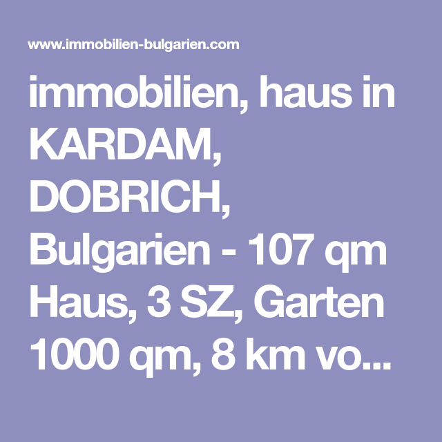 immobilien, haus in KARDAM, DOBRICH, Bulgarien 107 qm