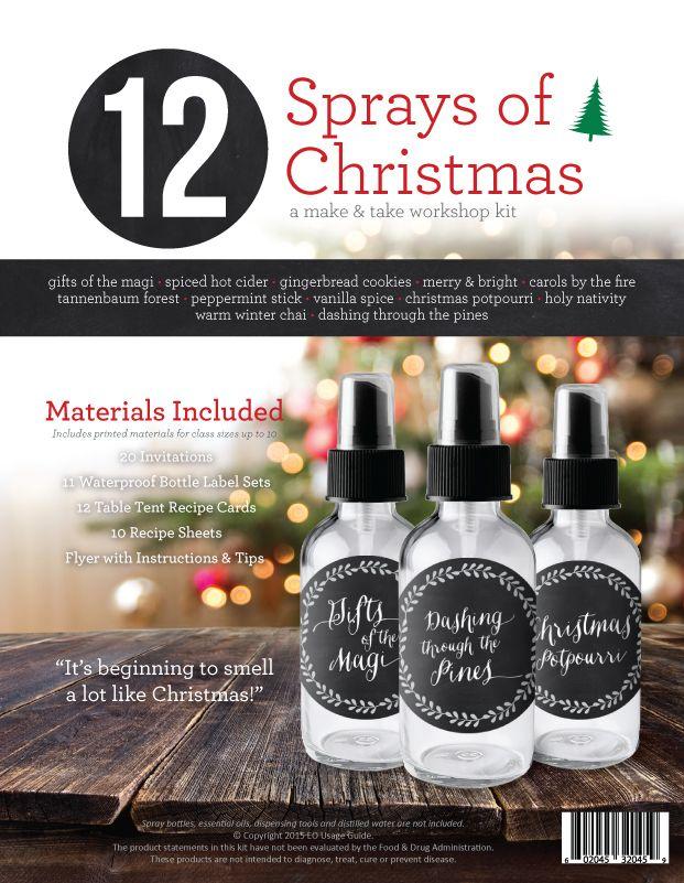 12 Sprays of Christmas Make & Take Workshop Kit | Oil, doTerra and ...