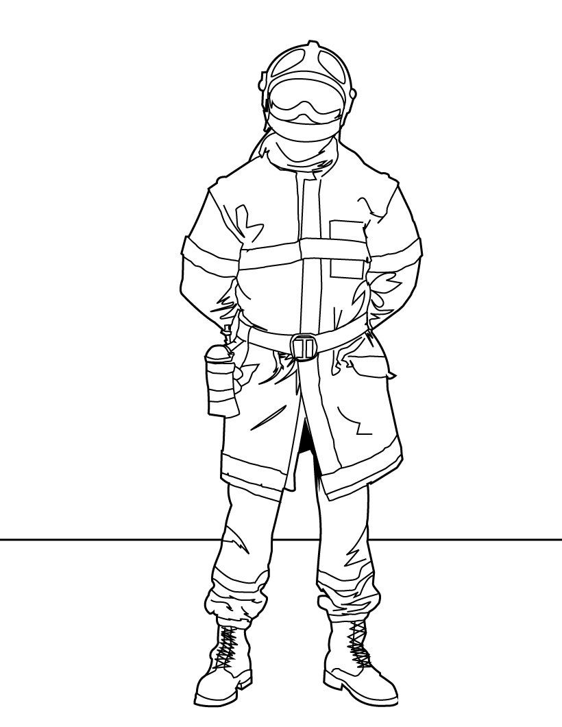 Firefighter-Coloring-Pages-For-Kids.jpg (820×1060) | Police/RCMP ...