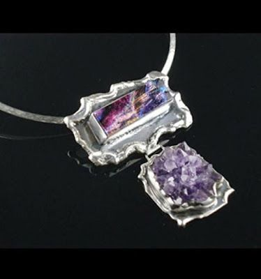"Jewelry Artists International: Sterling Silver and Amethyst pendant ""Skyla Amethyst Pendant"" by California Designer B. Marks"